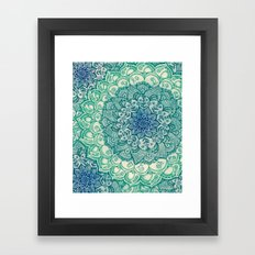 Emerald Doodle Framed Art Print