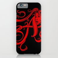 iPhone & iPod Case featuring Scarlet Letter by Tom Burns