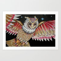 Night Watchman Art Print