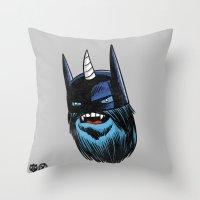 Yeticorn Comic Heroes Se… Throw Pillow