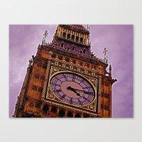 Big Ben in Purple Canvas Print