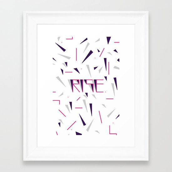 Rise No.2 - White Framed Art Print