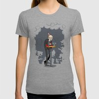 Richter at the Party Womens Fitted Tee Tri-Grey SMALL