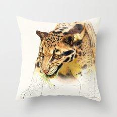 Clouded Panther Throw Pillow