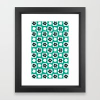 Emerald Flower Framed Art Print