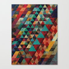 Geometric Sun Canvas Print