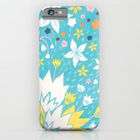 iPhone & iPod Case featuring Aqua Lilies by Emma Randall