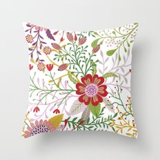 Floral Pattern #44 Throw Pillow