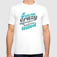 Crazy! Mens Fitted Tee White SMALL