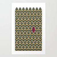 Rubine Feather Art Print