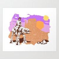 Walker Tejas Ranger Art Print