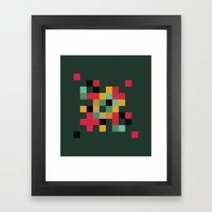 Pixel Composition Framed Art Print