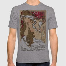 Vintage poster - Salon des Cents Mens Fitted Tee Athletic Grey SMALL