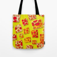 red spotted rectangles Tote Bag