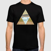 THREE EDGE PHYSICAL WORLD Mens Fitted Tee Black SMALL