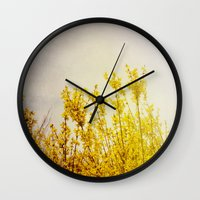 And it Was All Yellow Wall Clock