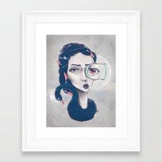 Rare Royal through the looking glass Framed Art Print