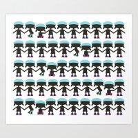 Roller Derby Paper Chain… Art Print