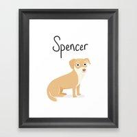 Spencer - Cute Dog Serie… Framed Art Print