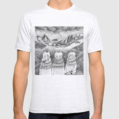 Icelandic foxes Mens Fitted Tee Ash Grey SMALL