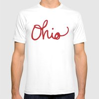 Ohio Mens Fitted Tee White SMALL