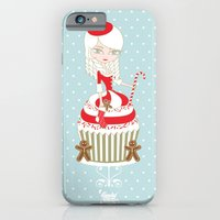 iPhone & iPod Case featuring Merry Lady Christmas Cupcake by LadyTiz
