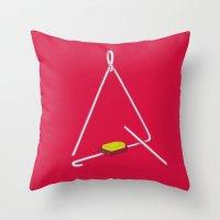 Triangle Hero Throw Pillow
