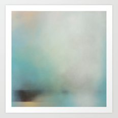 Saltwick Nab - Turquoise white abstract art Art Print