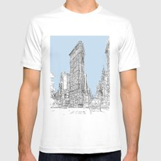 The Flat Iron Mens Fitted Tee White SMALL