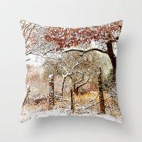 Painterly winter Throw Pillow