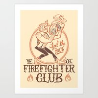 Firefighter Club Art Print