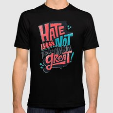 Hate Does Not Make America Great Black SMALL Mens Fitted Tee