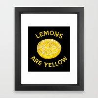 Lemons Are Yellow Framed Art Print