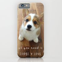 All you need is corgi and love iPhone 6 Slim Case