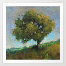 the orchard's ladder Art Print