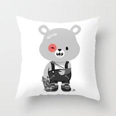 Bruised Bear Throw Pillow