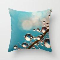 Heavenly Blue Smoke Drop… Throw Pillow