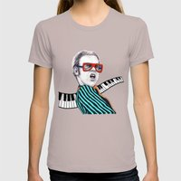 Vintage Elton - Analog Z… Womens Fitted Tee Cinder SMALL