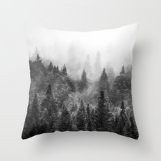 The Visionary Echo BW #society6 Throw Pillow