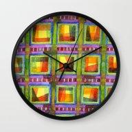 Light Behind Colourful G… Wall Clock