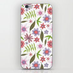soft colored flowers with leaves iPhone & iPod Skin