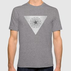 Pyramid Mens Fitted Tee Tri-Grey SMALL