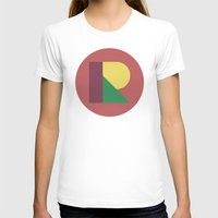 R BALL Womens Fitted Tee White SMALL