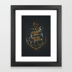 ANCHOR Hand Lettering Framed Art Print
