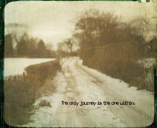 The only journey is the one within  Art Print