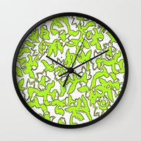 Floral Pattern Lime Gree… Wall Clock