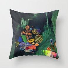 Cave Garden V Throw Pillow
