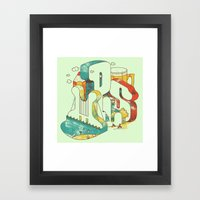 Locals Only - Minneapolis Framed Art Print