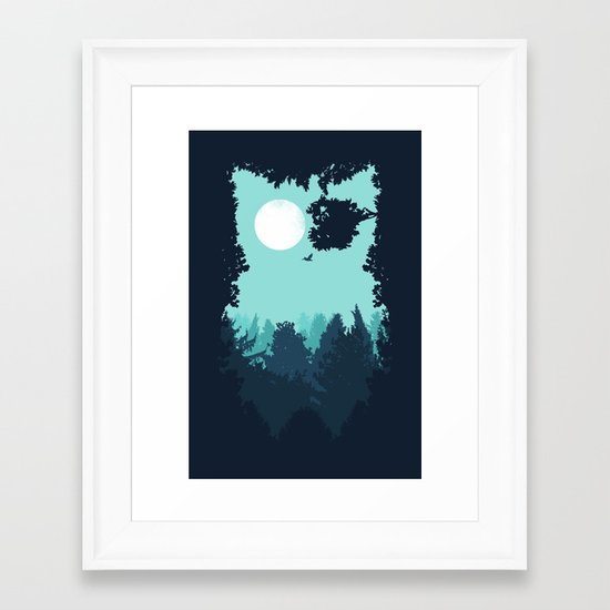 Winter Owl Framed Art Print