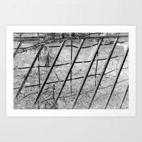 Shades of Fence Art Print